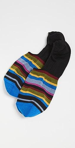 Paul Smith - Striped No Show Socks