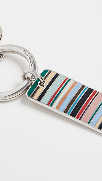 Paul Smith Stripe Tag Key Ring