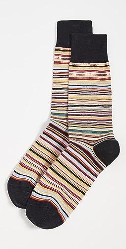 Paul Smith - Men's Narrow Signature Stripe Socks