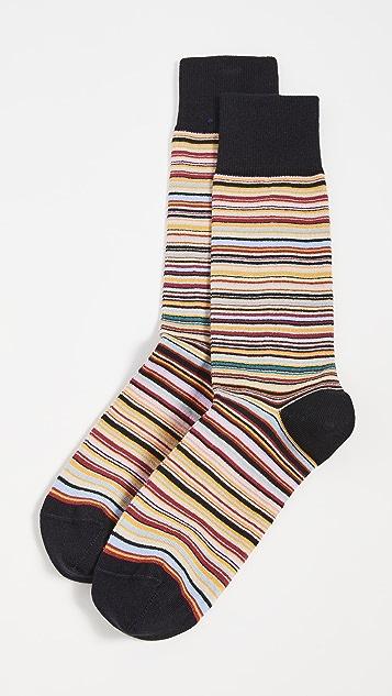 Paul Smith Men's Narrow Signature Stripe Socks