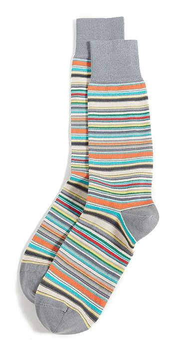 Paul Smith Men's Grey Signature Stripe Socks