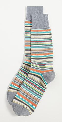 Paul Smith - Men's Grey Signature Stripe Socks