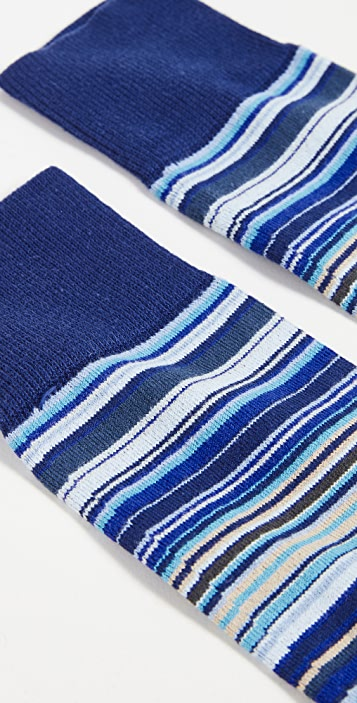 Paul Smith Men's Sky Blue Signature Stripe Socks