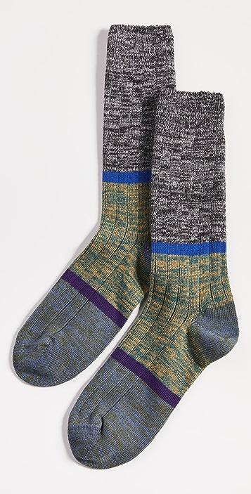Paul Smith Men's Black Marl Stripe Socks