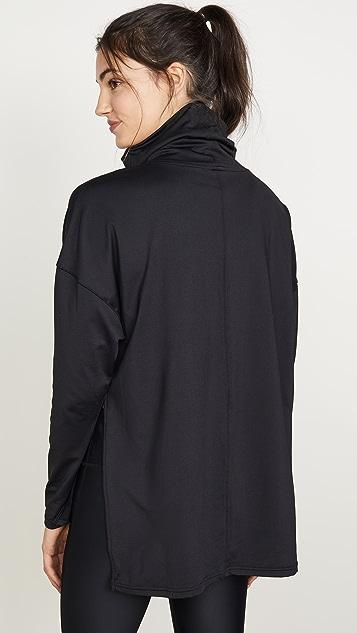 PRISMSPORT Long Sleeve Double Cowl Neck Top