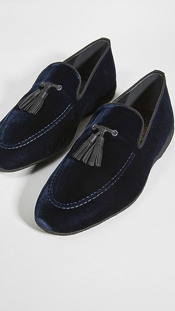 Paul Stuart Hope Tassel Slip On Loafers