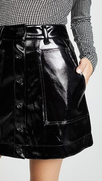 Proenza Schouler PSWL Vinyl Skirt