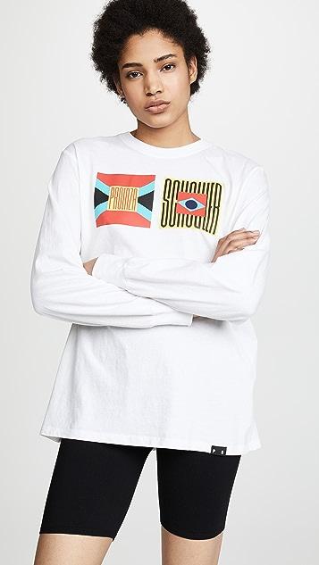 Proenza Schouler PSWL Футболка с длинными рукавами и изображением флага