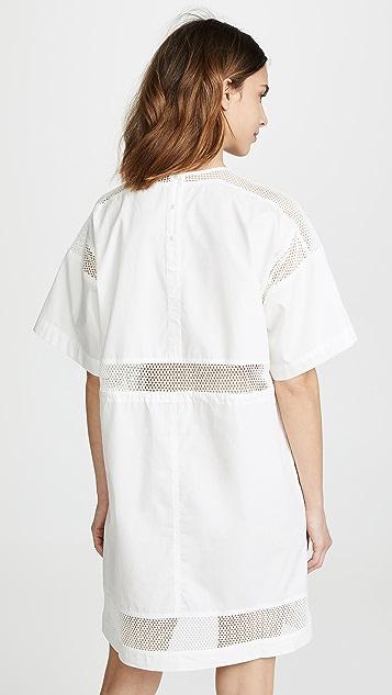 Proenza Schouler PSWL Short Sleeve Drawstring Dress