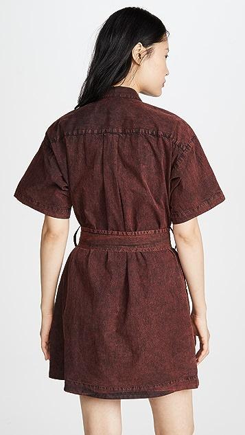 Proenza Schouler White Label 短袖束腰连衣裙
