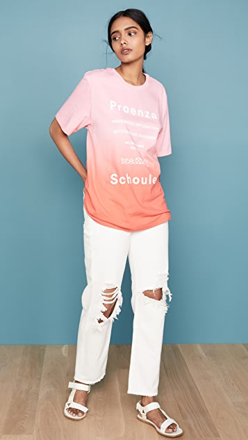Proenza Schouler White Label 短袖扎染 T 恤