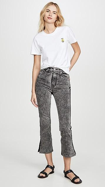 Proenza Schouler White Label Colorblock Split Jeans