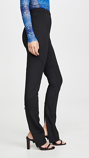 Proenza Schouler PSWL Straight Leg Pants with Slit