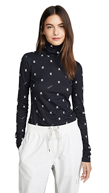Proenza Schouler White Label Long Sleeve Fitted Turtleneck