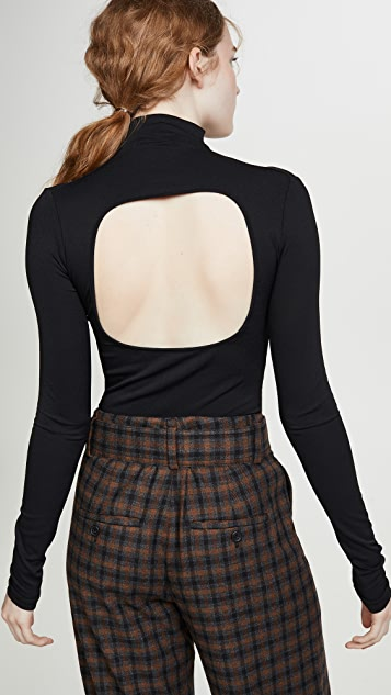 Proenza Schouler PSWL Long Sleeve Fitted Turtleneck
