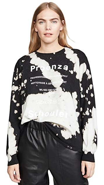 Proenza Schouler White Label Long Sleeve Tie Dye T Shirt