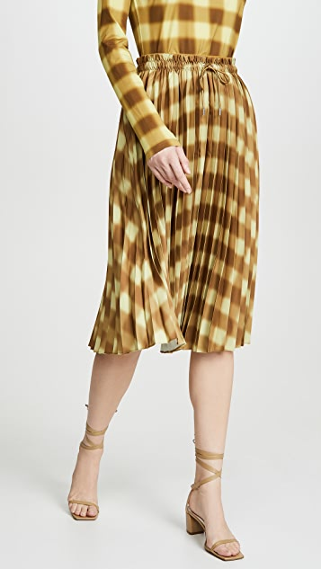 Proenza Schouler White Label Georgette Pleated Skirt