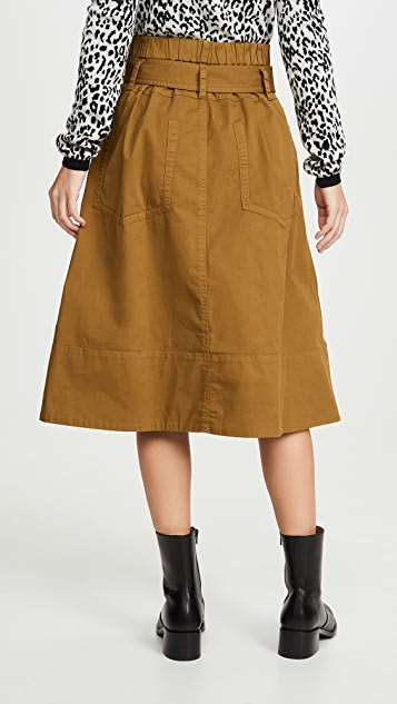Proenza Schouler White Label 系腰带棉质半身裙