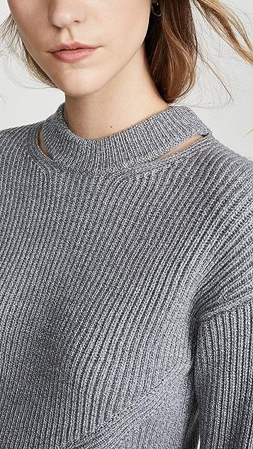 Proenza Schouler White Label Пуловер в широкий рубчик