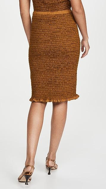 Proenza Schouler White Label Smocked Skirt