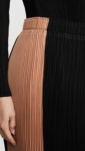 Proenza Schouler White Label 打褶泡泡纱半身裙