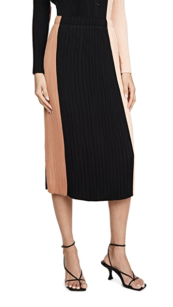 Proenza Schouler White Label Plisse Slip Skirt
