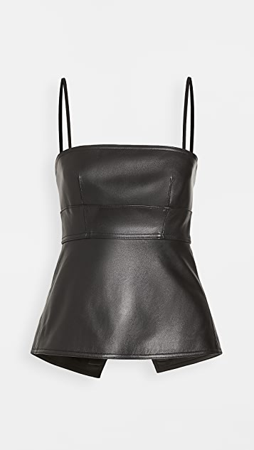 Proenza Schouler White Label Leather Strappy Top