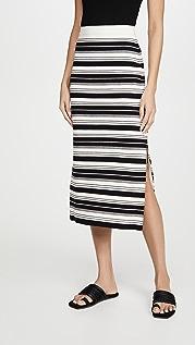 Proenza Schouler White Label 紧密条纹半身裙