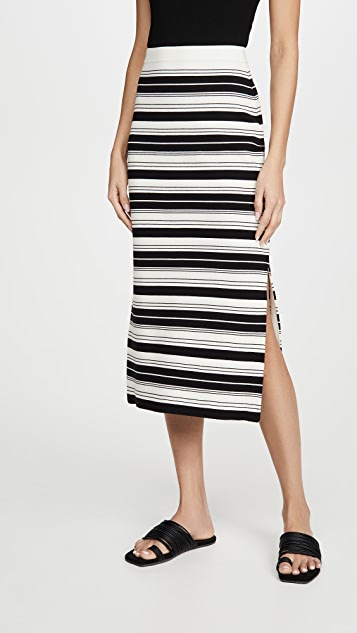 Proenza Schouler White Label Compact Stripe Skirt