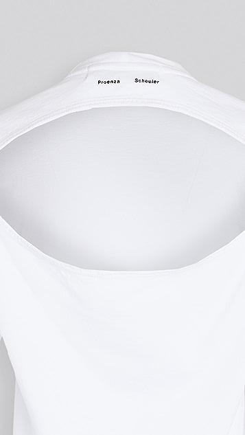 Proenza Schouler White Label Classic Short Sleeve Shirt