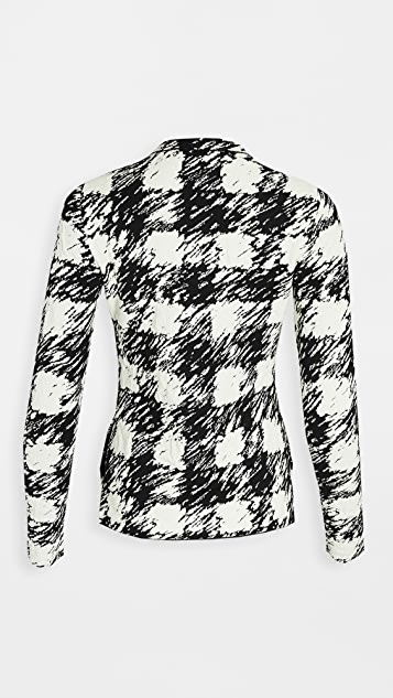 Proenza Schouler White Label Jacquard Long Sleeve Knit Top