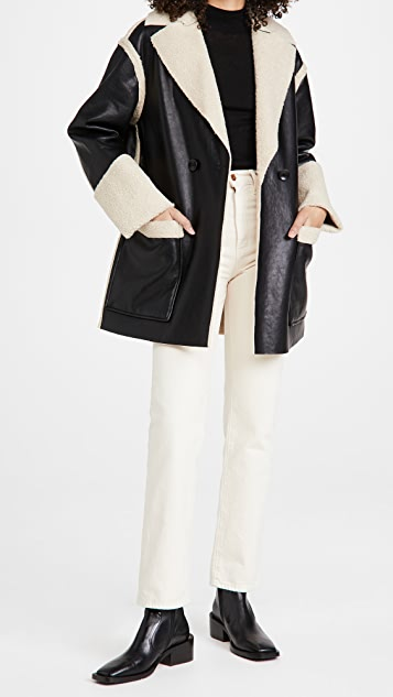 Proenza Schouler White Label 仿羊羔绒双面穿大衣