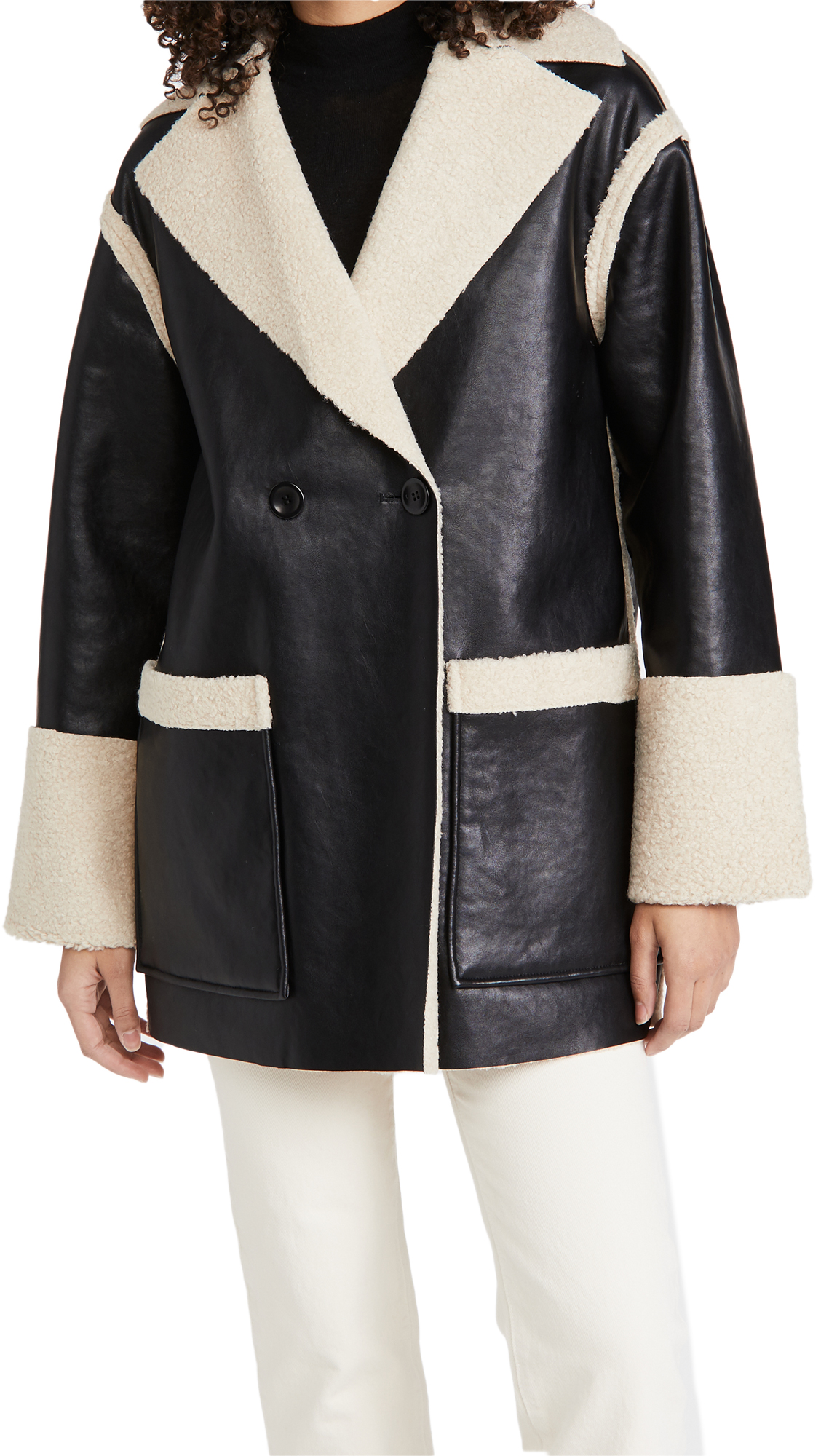 Proenza Schouler White Label Faux Sherpa Reversible Coat