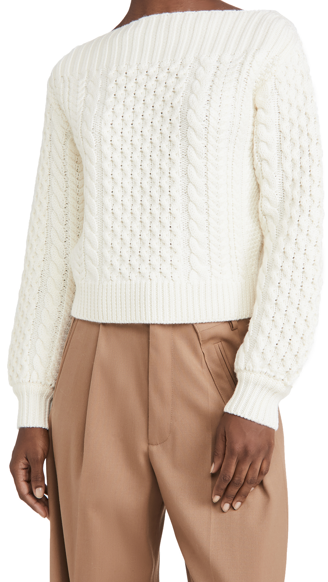 Proenza Schouler White Label Chunky Cable Knit Sweater