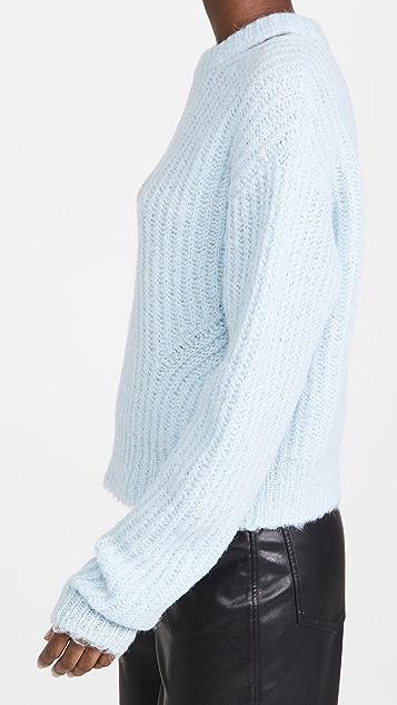 Proenza Schouler White Label Brushed Alpaca Sweater