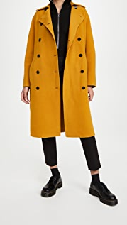 Proenza Schouler White Label Doubleface Double Breasted Long Coat