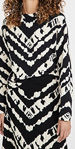 Proenza Schouler White Label - Animal Jacquard Cropped Pullover