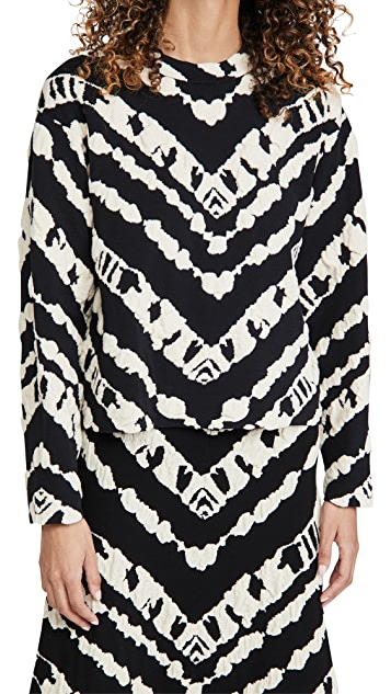 Proenza Schouler White Label 动物提花短款套头衫
