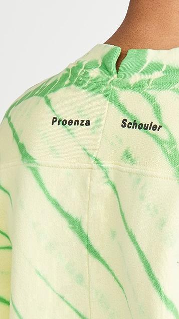 Proenza Schouler White Label Modified 扎染连肩运动衫