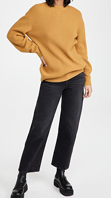 Proenza Schouler White Label Wool Cashmere Knit Top with Tie Back