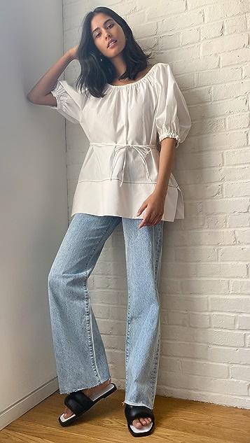 Proenza Schouler White Label 府绸泡泡袖女式衬衫