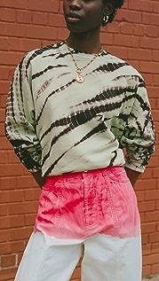 Proenza Schouler White Label Modified Raglan Tie Dye Sweatshirt
