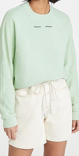 Proenza Schouler White Label - Modified Raglan Solid Sweatshirt