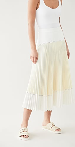 Proenza Schouler White Label - Colorblock Pleated Crepe Skirt