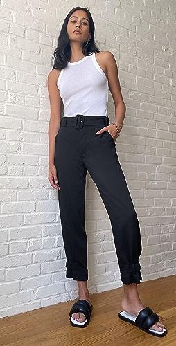Proenza Schouler White Label - Rumple Pique Belted Pants