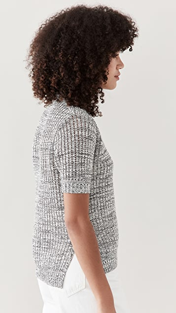 Proenza Schouler White Label 棉质真丝珠地布针织马球衫