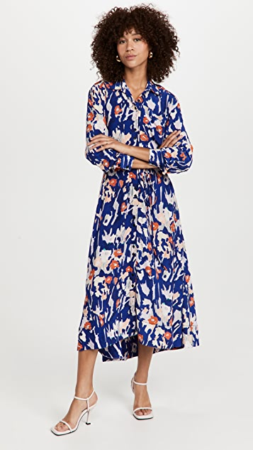 Proenza Schouler White Label Painted Floral Shirtdress