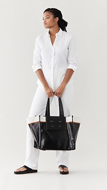Proenza Schouler White Label XL 涂层帆布托特包