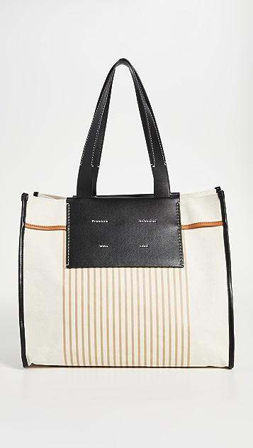 Proenza Schouler White Label XL Stripe Canvas Tote