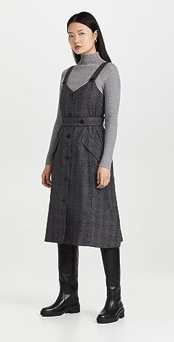 Proenza Schouler White Label - 格子西装面料风衣式连衣裙